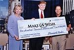 Patricia Clemency CEO of Make-A Wish Metro NY , Donald Trump and Stewart