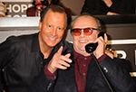Stewart with Jack Nicholson at Hope for Haiti Telethon