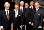 Robert M. Morgenthau, Regis Philbin, President Bill Clinton, Stewart, Donald Trump and Police Commisioner Ray Kelly at PAL annual dinner